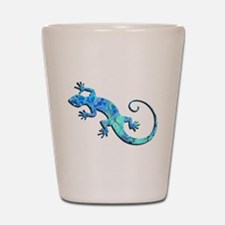 Malachite Blue Gecko Shot Glass