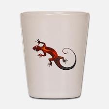 Fire Red Gecko Shot Glass
