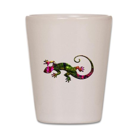 Green Purple Gecko Shot Glass