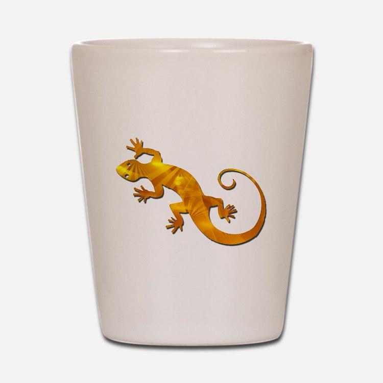 Golden Yellow Gecko Shot Glass