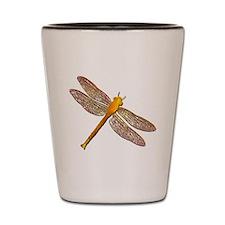 Golden Dragonfly Shot Glass