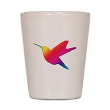 Rainbow Hummingbird Shot Glass