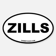 Zills Oval Decal