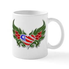 Texas Heart with Wings Mug