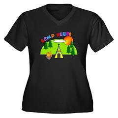 Camp Nurse Women's Plus Size V-Neck Dark T-Shirt