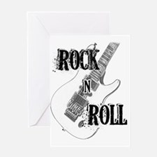 Unique Rock n roll Greeting Card