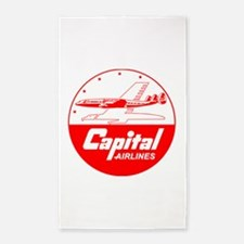 Capital Airlines Constellation Area Rug