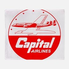Capital Airlines Constellation Throw Blanket