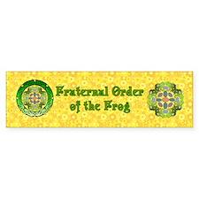 Fraternal Order of the Frog Bumper Sticker