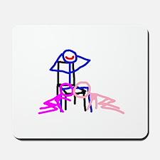 Stick figure 3 Mousepad