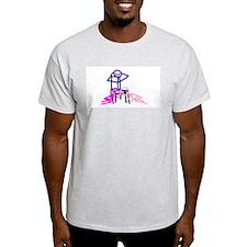 Stick figure 3 Ash Grey T-Shirt