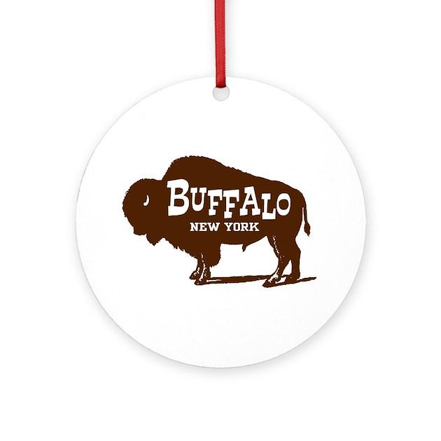 Buffalo New York Ornament (Round) By Ilovemystate