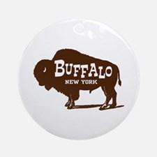 Buffalo New York Ornament (Round)