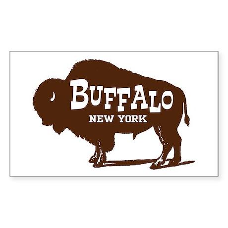 Buffalo New York Rectangle Sticker