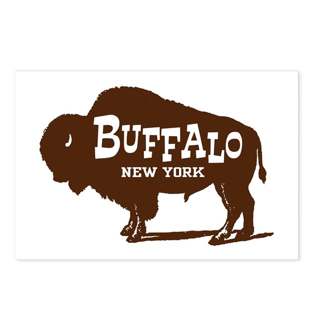 Buffalo New York Postcards (Package Of 8) By Ilovemystate