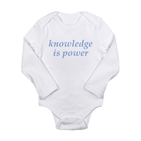 Knowledge Is Power (light blue) Body Suit