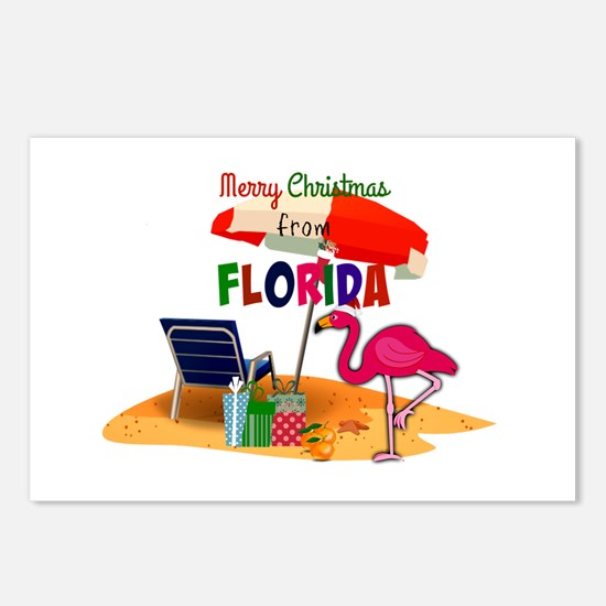 Cute Flamingo florida Postcards (Package of 8)