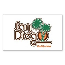 San Diego California Rectangle Decal