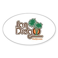 San Diego California Oval Decal