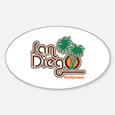 San Diego California Oval Decal