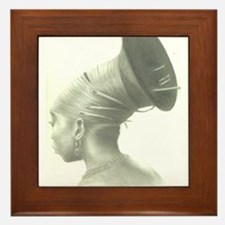 Our Hair, Our Roots Framed Tile