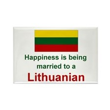Happily Married To Lithuanian Rectangle Magnet