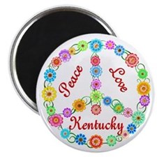 Peace Love Kentucky Magnet