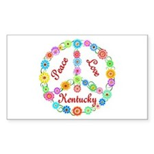 Peace Love Kentucky Decal