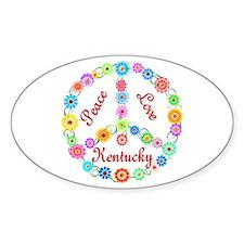 Peace Love Kentucky Decal