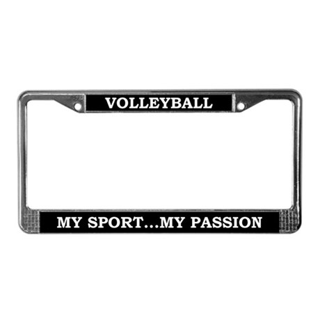 Volleyball My Passion License Plate Frame