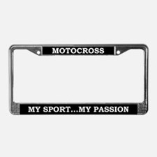 Motocross My Passion License Plate Frame