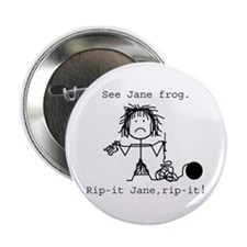 SEE JANE FROG: Button