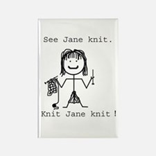 SEE JANE KNIT: Rectangle Magnet