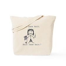 SEE JANE KNIT/SEE JANE FROG: Tote Bag