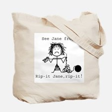 SEE JANE KNIT/SEE JANE FROG: Tote Bag