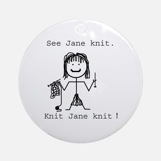 SEE JANE KNIT: Ornament (Round)