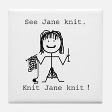 SEE JANE KNIT: Tile Coaster