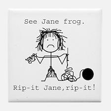 SEE JANE FROG: Tile Coaster