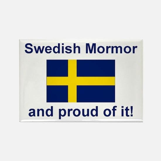 Proud Swedish Mormor Rectangle Magnet