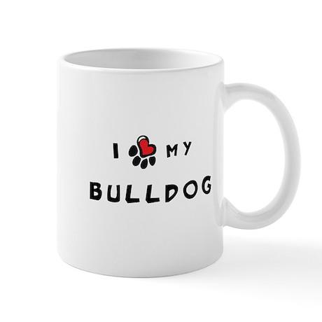 I *heart* My Bulldog Mug