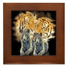 Tiger Love Framed Tile