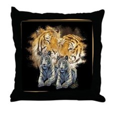 Tiger Love Throw Pillow