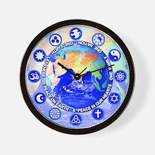 <b>SACRED SYMBOLS:</b> Peace on Earth Wall Clock
