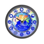 SACRED SYMBOLS:  Peace on Earth Wall Clock