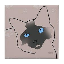 Siamese Kitty Tile Coaster