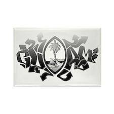 Guam Graffiti Rectangle Magnet