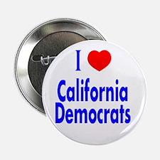 I Love California Democrats Button