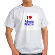 I Love Arkansas Democrats Ash Grey T-Shirt