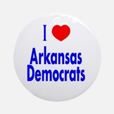 I Love Arkansas Democrats Ornament (Round)