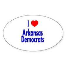 I Love Arkansas Democrats Oval Decal